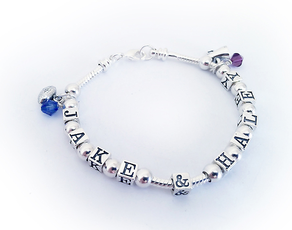 Jake and Haley Pandora bracelet with spacer beads